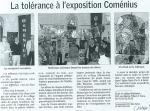 2008 La tolérance à l'exposition Comenius