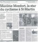 2008 Maxime Monfort la star du cyclisme à Saint-Martin