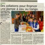 Des collations pour financer une pompe à eau au Congo
