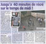 Article La Meuse du 17 09 14 (les temps de récréation)