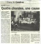 2006 Quatre chorales, une cause