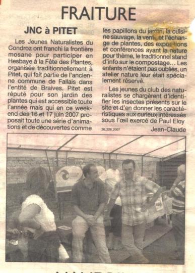 2007 JNC à Pitet