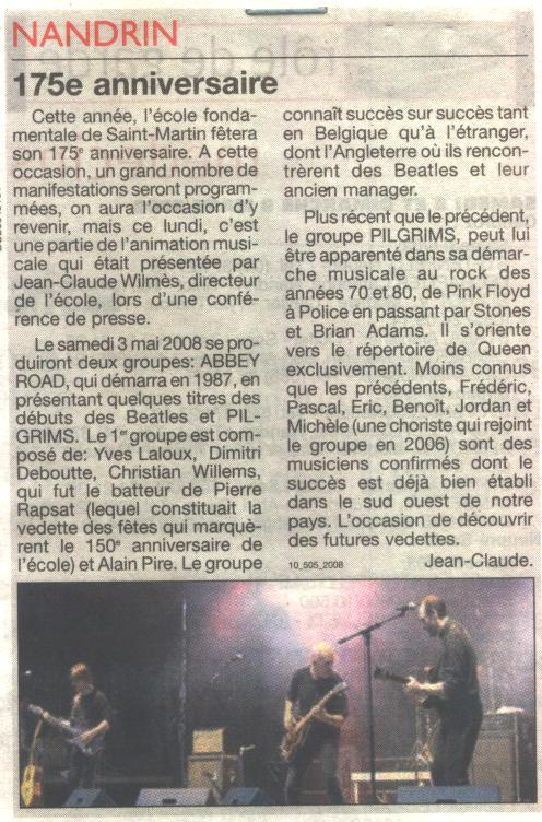 2008 175eme anniversaire - concert