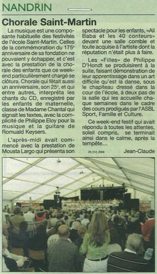 2008 Chorale Saint-Martin