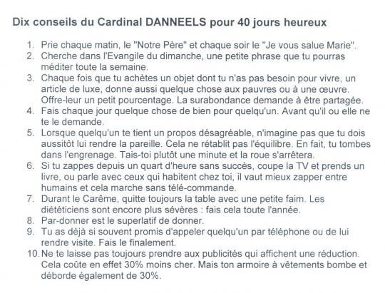 2008 Conseils du Cardinal Daneels