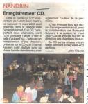 2008 Enregistrement CD