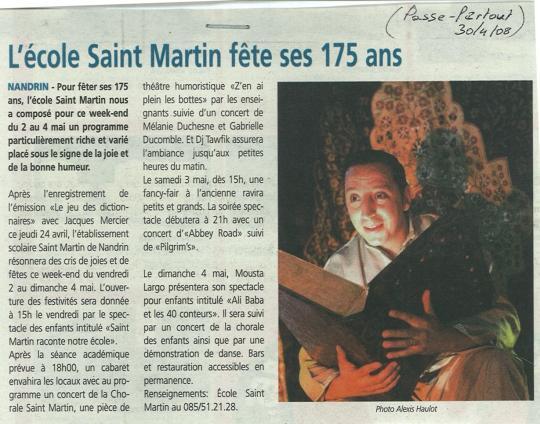 2008 L'école Saint-Martin fête ses 175 ans