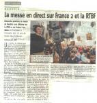 2008 La messe en direct sur France 2 et la RTBF