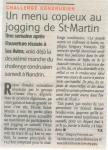 2012 Un menu copieux au jogging Saint-Martin