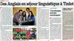 2012 Des Anglais en séjour linguistique à Tinlot