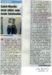 2013 - Saint-Martin veut aider une école béninoise
