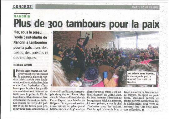 Tambours de la Paix (21 mars 2016)